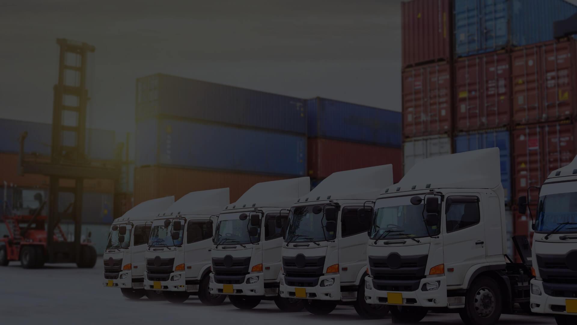 photo of the truck fleet